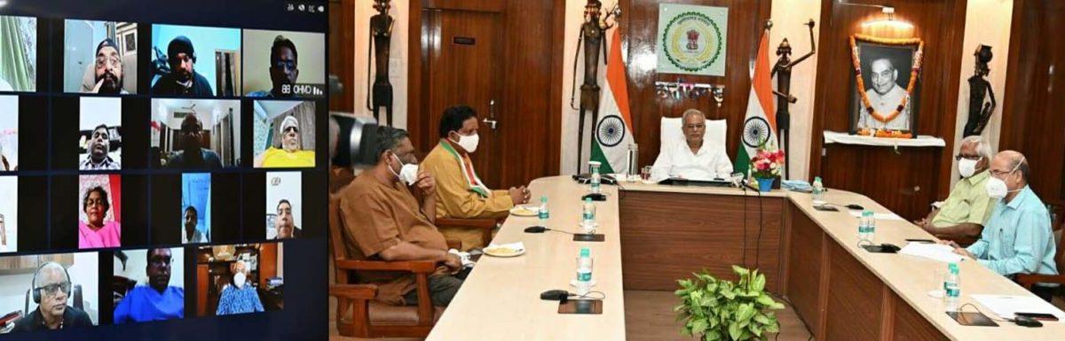 रायपुर :  कोरोना संकटकाल में चिकित्सकों की सेवाओं को हमेशा याद रखा जाएगा: मुख्यमंत्री श्री भूपेश बघेल