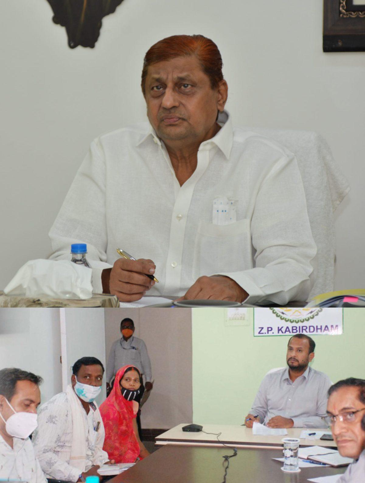 रायपुर :  बेहतर तालमेल और सामंजस्य से कार्य कर पंचायत एवं ग्रामीण विकास के कार्यों में लाएं गति :  वन मंत्री श्री अकबर