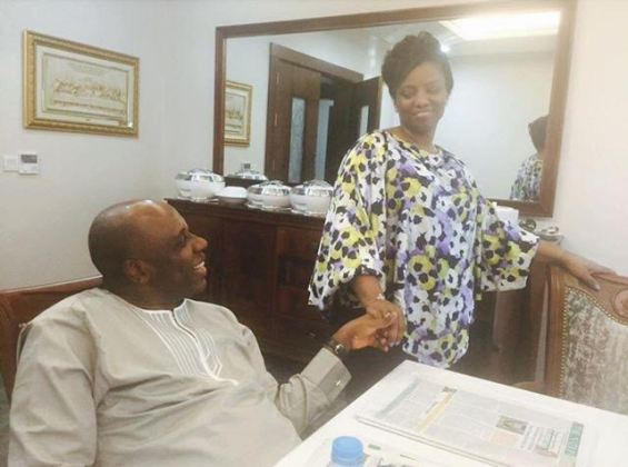 Rotimi Amaechi and wife