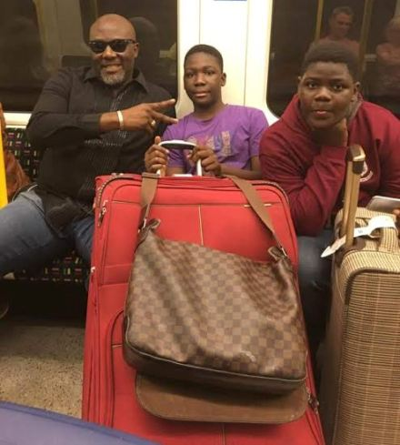 Dino Melaye Shares Photos From His Vacation With His Kids (1)