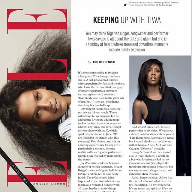 Tiwa Savage Uber Hot In New Photos For Elle SA (Peek) (2)