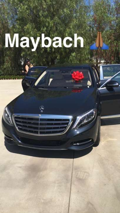 Tyga Gives Kylie Jenner A Mercedes Maybach For Her 19th Birthday (2)