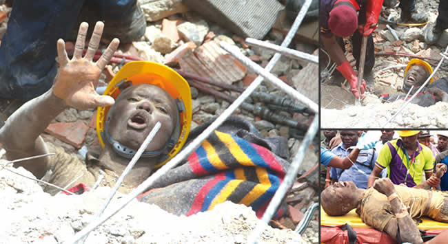 Image result for collapse of the Lekki Gardens' property MANY TRAPPED AS ANOTHER UNCOMPLETED 3-STOREY BUILDING COLLAPSES IN ONITSHA MANY TRAPPED AS ANOTHER UNCOMPLETED 3-STOREY BUILDING COLLAPSES IN ONITSHA lekki collapse