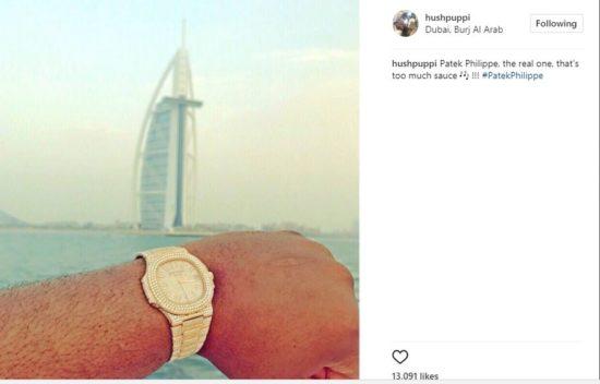 hush patek - Hushpuppi Flaunts His 'Real' Patek Philippe Watch After Slamming Ice Prince & Phyno For Wearing Fake