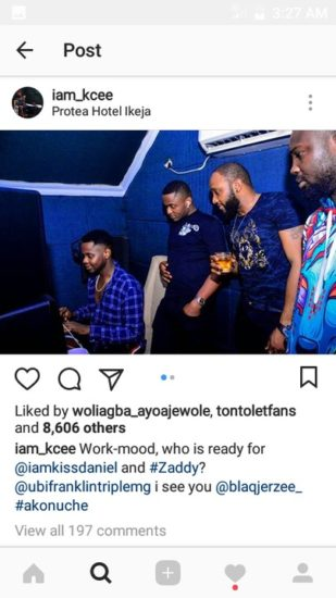 DF0E5003 620C 4280 8036 DCAA23EEF43D - Kiss Daniel, Kcee And Ubi Franklin Pictured Together