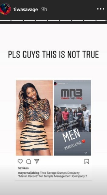 Tiwa Savage Reacts To Reports About Leaving Mavin Records