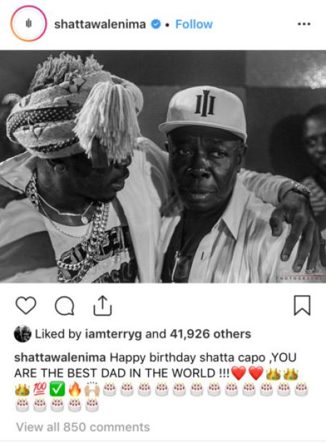 Shatta Wale celebrates His Dad's birthday (See what He wrote)