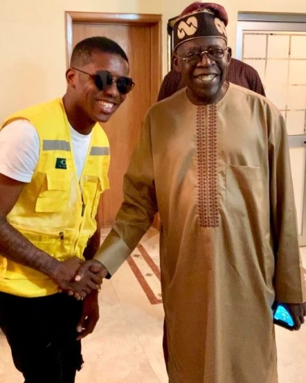 Small Doctor 'Electrified' After Meeting Bola Tinubu (Photos)
