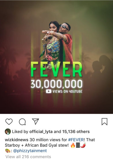 Fabulous! Soco Hits 50Million Views And Fever Records 30Million Views