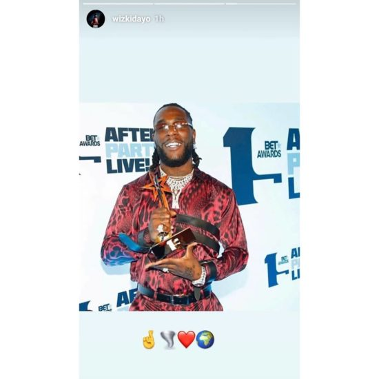 Wizkid And Davido's Reaction To Burna Boy's Won Best International Act