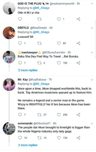 """Twitter Slams MI For Calling Out Akon For Referring To Wizkid As """"Lil Bro"""" 4"""