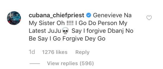 """""""I go do person juju o"""" – Cubana chief priest warns Wizkid to stay away from Genevieve Nnaji 1"""
