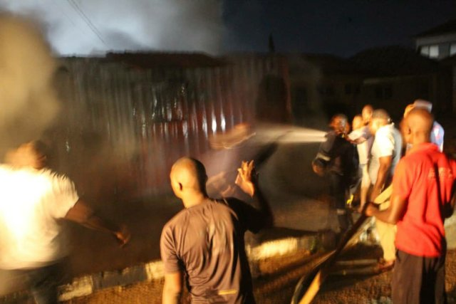 Ondo election: INEC office on fire, smart card readers burnt 4
