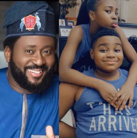 Desmond Elliot shares new photos of his twins to celebrate them as they turn 10 1