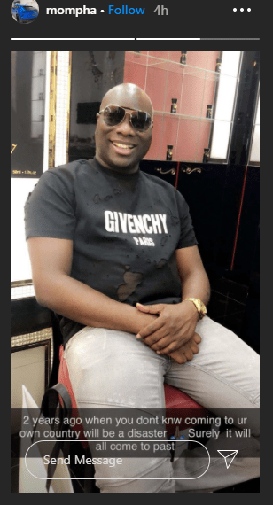 Mompha reveals he regrets returning to Nigeria 2