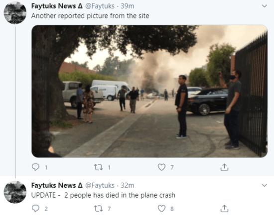 Plane crash kills 2persons in Los Angeles 7