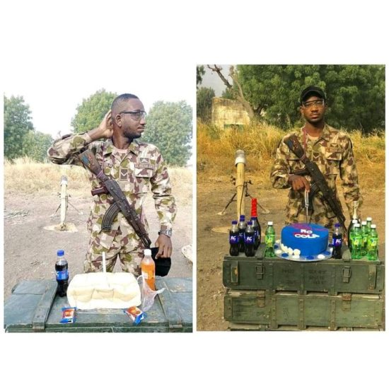 Soldier who celebrated his birthday with bread receives cake from RC Cola (Photos) 1