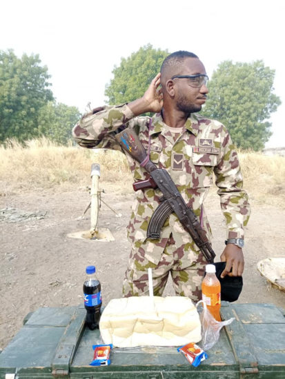See how a soldier serving in Borno state celebrated his birthday (photos) 3