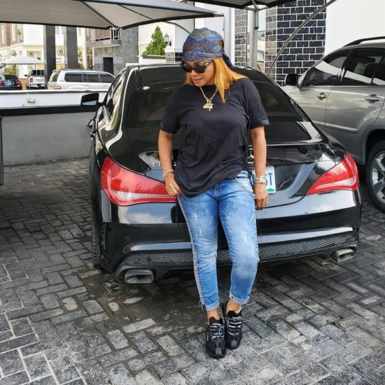 Iyabo Ojo eyes her daughter's Mercedes, says the car fits her 1