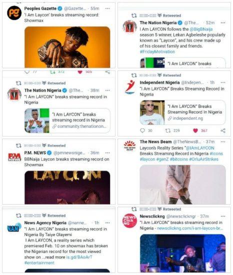 "BBN Laycon's ""I Am Laycon"" Reality Show Breaks Streaming Records 2"