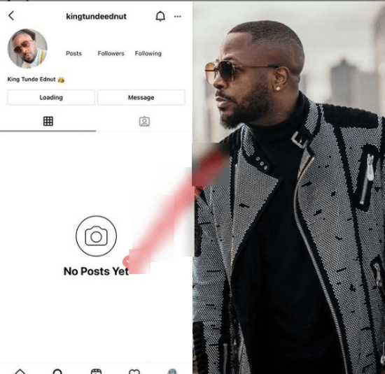 For The Umpteenth Time, Tunde Ednut Loses His Instagram Page 2