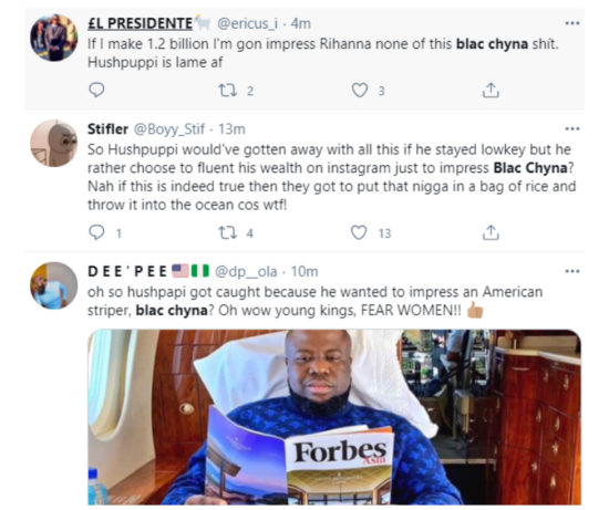Nigerians gossip on Twitter about how Hushpuppi himself out while trying to impress Blac Chyna 4