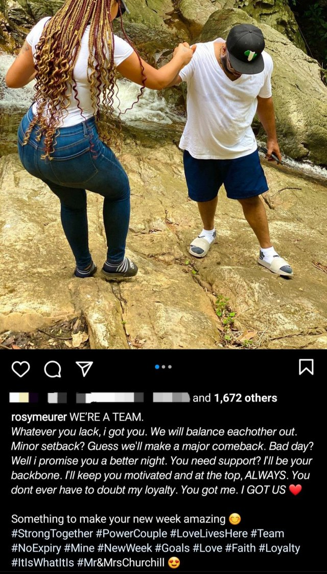 Rosy Meurer writes open letter to husband Churchill as she shares new photos of them together 1