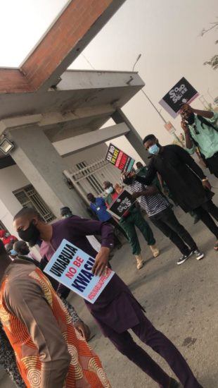 #Enduniabujaoppression: University of Abuja students on a peaceful protest (Pics) 5