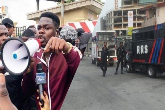 BREAKING: Police arrest comedian, Mr Macaroni at Lekki tollgate 1