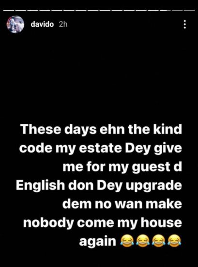 Davido may stop receiving visitors in his Banana Island mansion soon and here is why 2