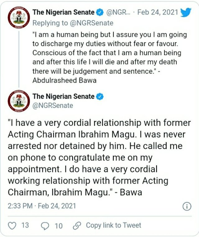 Ibrahim Magu congratulated me on my appointment, Bawa speaks on corruption allegations 2