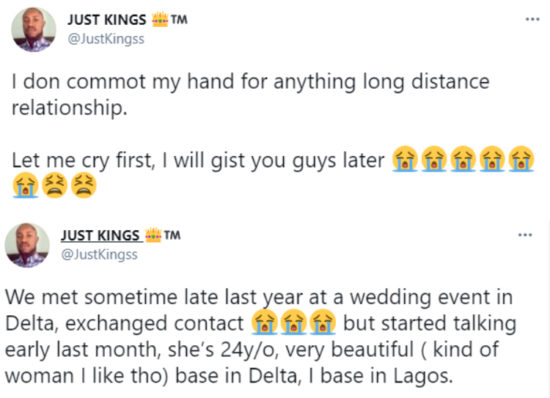Man residing in Lagos curses his Delta-based girlfriend after finding out she has been dating another man all along 2