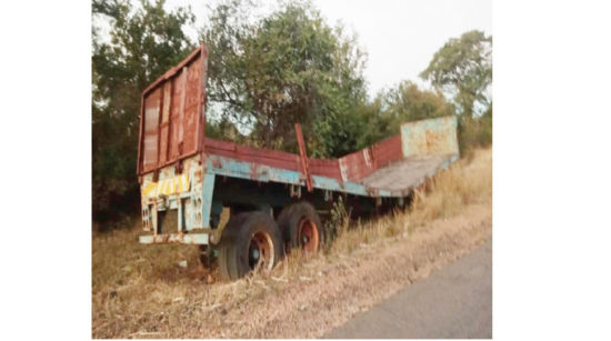 Abandoned trailer found intact after 11 years; villagers claim an invisible hand slaps those that try to steal its parts 1