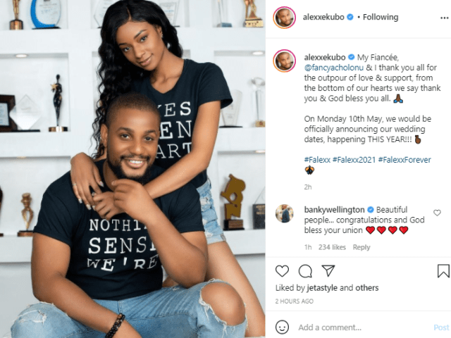 """""""Our wedding is happening this year""""- Alex Ekubo says after proposing to his fiancée, Fancy Acholonu 2"""