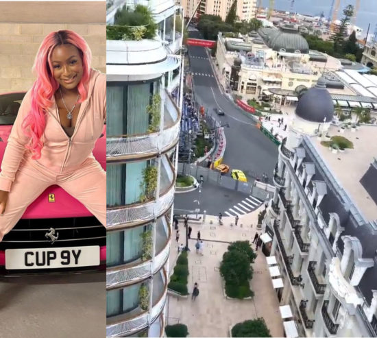 DJ Cuppy watches the Monaco Grand Prix 2021 from the balcony of the Otedola family home in Monté Carlo 1