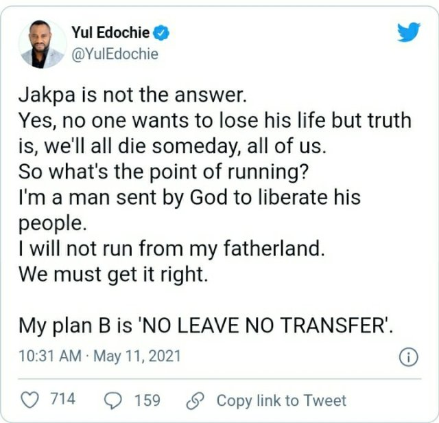 I'm Sent by God to Liberate His People: Yul Edochie Advises Nigerians Against Migrating 2