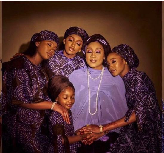 Stunning photos of President Buhari's daughter, Hadiza Bello and her  beautiful daughters | 36NG