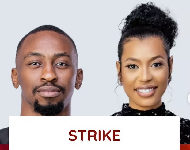 BBNaija: Saga and Nini have been issued a strike for whispering 1