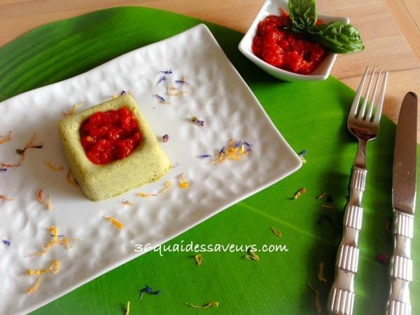 terrine de courgettes et concassée de tomates