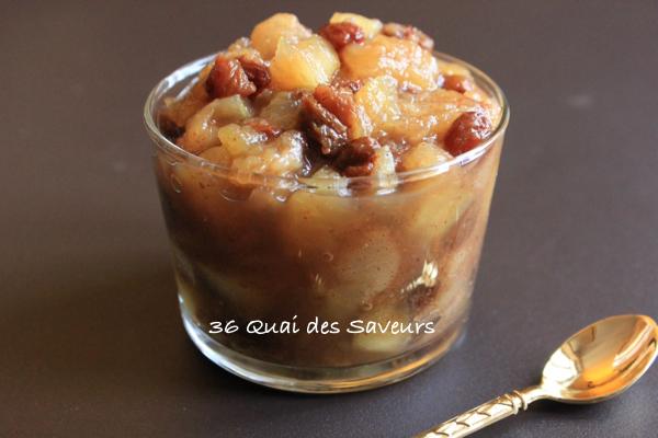 Chutney de pommes, poires et raisins