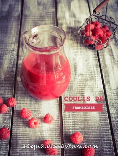 Coulis de framboises ou autres fruits rouges