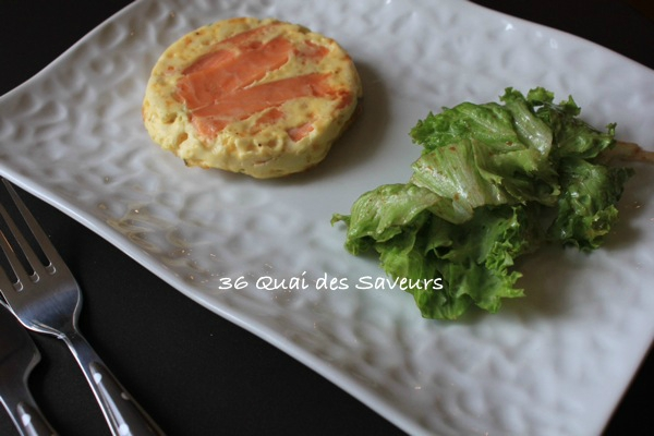 Croque quiche au saumon