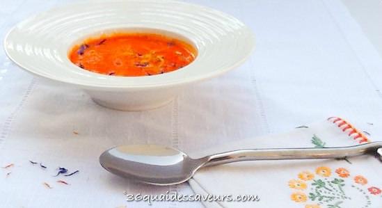 Gazpacho de poivrons rouges