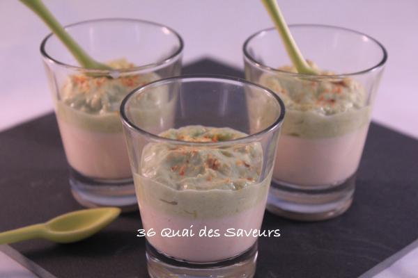 Panna cotta au saumon fumé et crème d'asperges