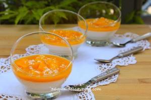 panna cotta lait de coco mangue