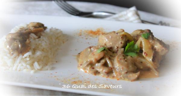 Saut de porc la moutarde l 39 ancienne 36 quai des saveurs - Saute de porc cocotte minute ...