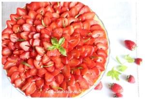 tarte aux fraises crème d'amandes