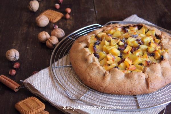 tarte rustique aux pommes pate sablée spéculos1