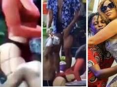 #BBNaija2020: Watch the moment Laycon aggressively rocked Nengi last night ( video)