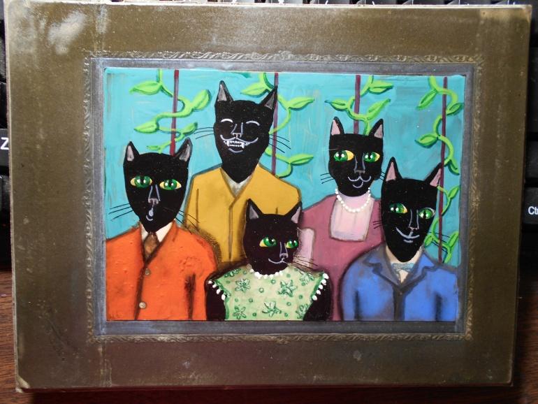 Black Cat Family Portrait